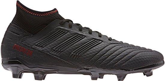 adidas predator 19.3 fg voetbalschoenen zwart rood