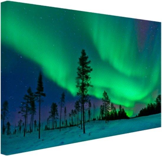 FotoCadeau.nl - Noorderlicht boven Zweden Canvas 30x20 cm - Foto print op Canvas schilderij (Wanddecoratie)