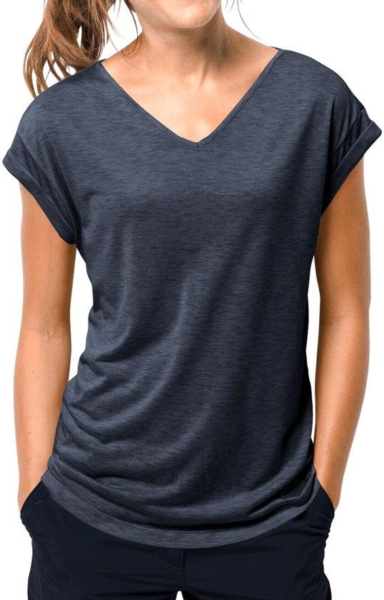 Shirt Blue Midnight T Coast Jack Coral W Wolfskin Dames xnvqg4fPzw