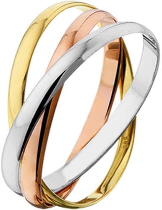 4300443 Tricolor gouden ring 1.9 mm