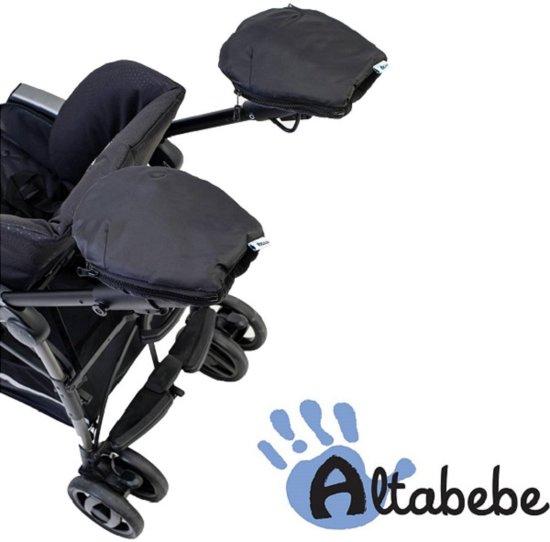 Altabebe Active handwarmers - Set van 2 handenwarmers - Handschoenen voor kinderwagen & buggy - Zwart