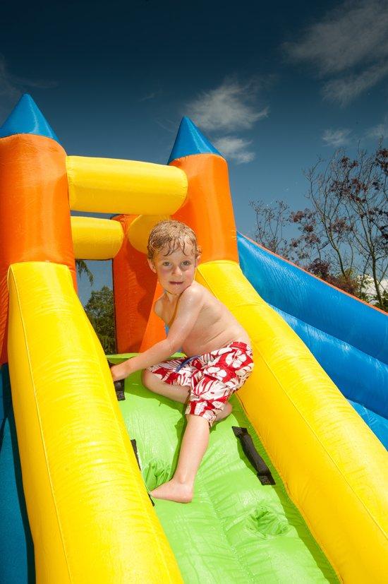 Tobogani – Kinderbadje waterpark met glijbaan opblaasbaar 12 m² (inclusief blaastoestel)