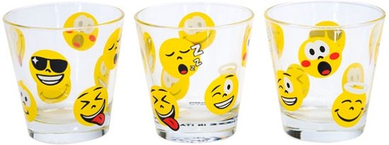 Cerve Emoticons sapglas 310 ml - Set-3 Valentinaa