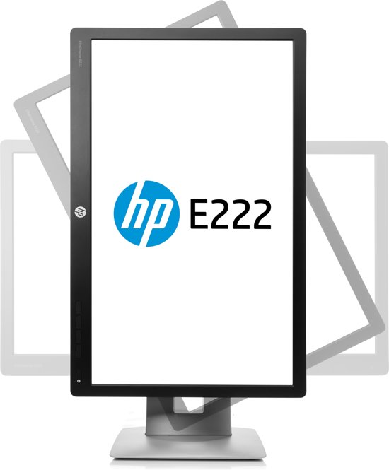 HP EliteDisplay E222 computer monitor 54,6 cm (21.5'') Full HD LED Zwart, Zilver