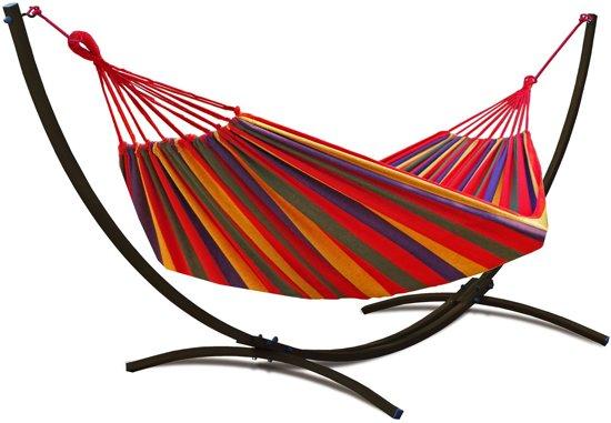 Potenza Indela-Eenpersoons Hangmatset / Hangmat met standaard
