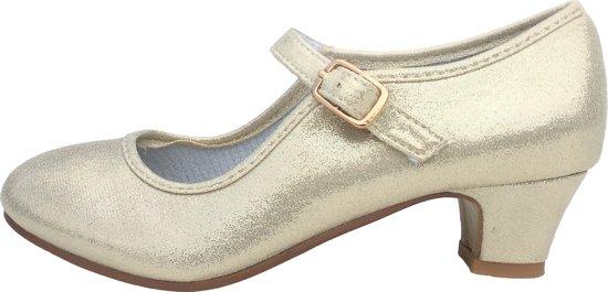 Anna Prinsessen schoenen parelmoer/Spaanse Prinsessen schoenen-maat 29  (binnenmaat 19 cm)