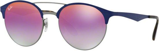Ray-Ban RB3545 9005A9 - zonnebril - Blauw-Staalgrijs / Violet Gradiënt Spiegel - 54mm