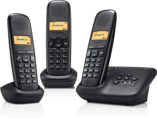 Gigaset A150A - Trio DECT telefoon - Antwoordapparaat - Zwart