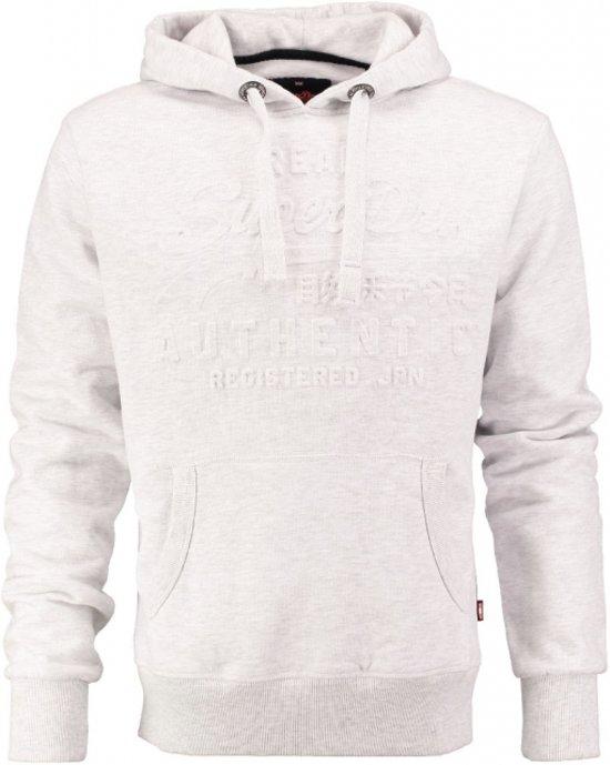 Superdry lichtgrijze sweater hoodie Maat - XL