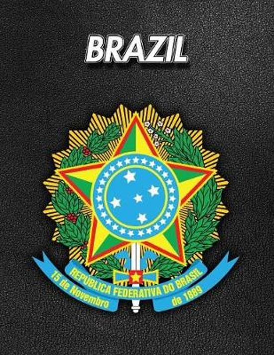 Brazil: Coat of Arms - Weekly Calendar July 2019 - December 2021 - 30 Months - 131 pages 8.5 x 11 in. - Planner - Diary - Orga
