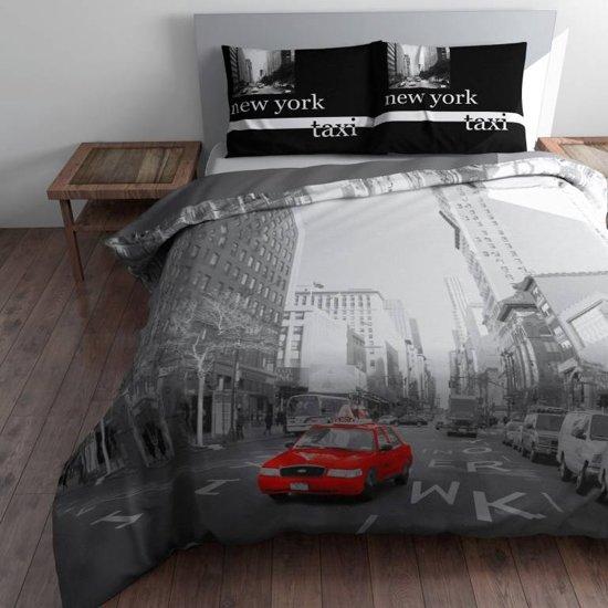 Sleeptime Red Cab Dekbedovertrekset - Lits-jumeaux - 240 x 220 cm - Grijs