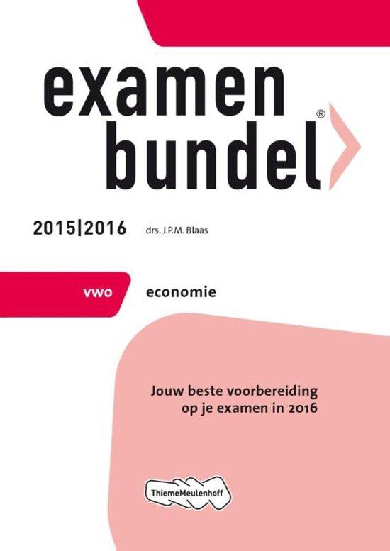 Boek cover Examenbundel vwo Economie 2015/2016 vwo economie van J.P.M. Blaas (Paperback)
