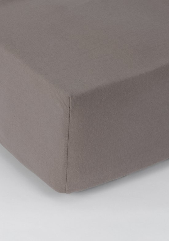 Nightlife Jersey Hoeslaken Taupe-120 x 200 cm