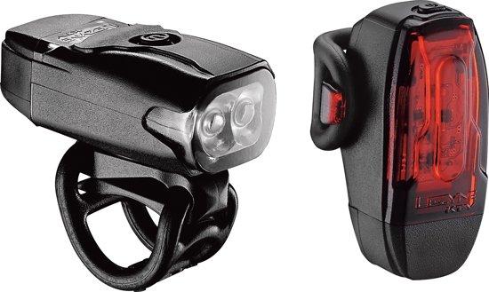 Lezyne KTV Drive Pair Led Fiets Verlichtingsset - 180 Lumen koplamp / 10 Lumen achterlicht - Zwart