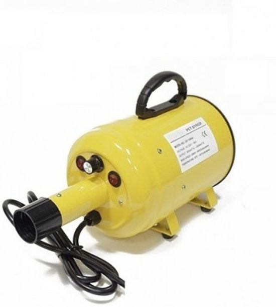 Topmast Waterblazer| Dierenborstel | Hondenfohn Max. 2800 Watt Power. Geel