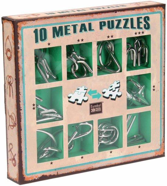 Afbeelding van het spel Eureka 10 Metal Puzzles Set Green