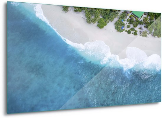 Foto print op Glas Paradise From Above|G8 - 100cm x 75cm|Toughened Glass 5mm