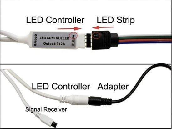 LED strip verlichting - 5 meter - 44 keys RGB - Merkloos