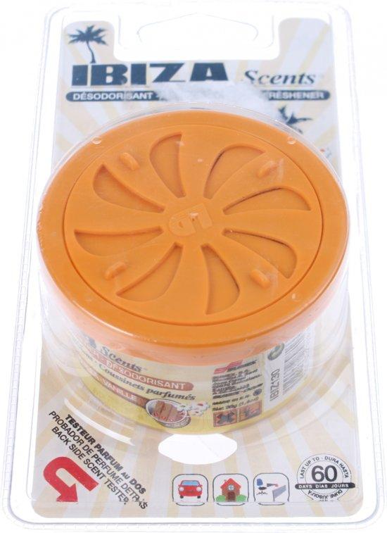 Ibiza Scents Luchtverfrisser Blikje Vanille Oranje Blister