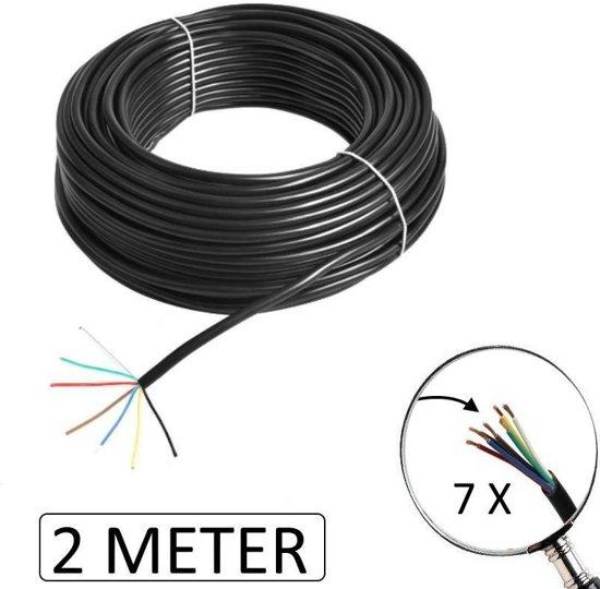 Beste bol.com | ES Aanhangwagen Kabel 7 Polig 0,75 mm² (2 Meter) DM-61
