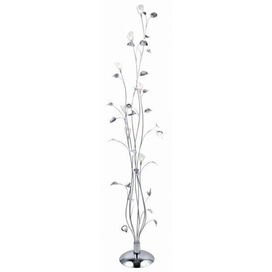 bol.com | Willemse Flora - Vloerlamp - 7 lichts - Chroom