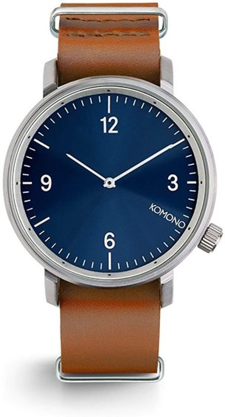 Komono Magnus II Blue Cognac Horloge