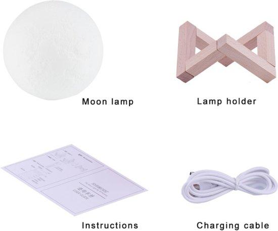 Easycobi Moon Lamp - Nachtlamp - 15cm