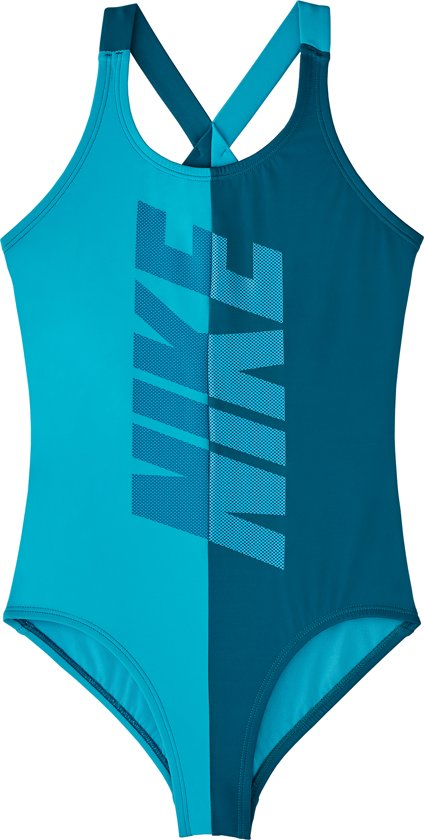 1dca1285cc5225 bol.com   Nike Swim Crossback One Piece Meisjes Badpak - Green Abyss ...
