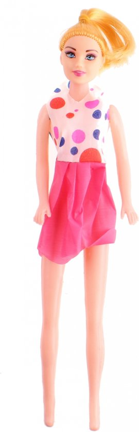 Pms Tienerpop Fashion Doll Princess 26 Cm Wit/rood