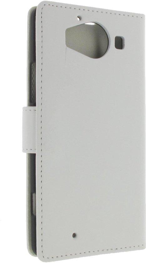 Microsoft Lumia 950 Boekhoesje Wit Met Opbergvakjes in Strooienstad