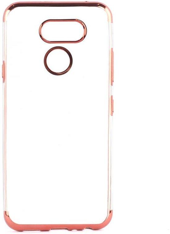 Teleplus LG K40S Case Luxury Laser Silicone Red hoesje
