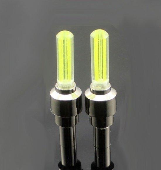firefly led fietswielverlichting ventielbevestiging set van 2 geel