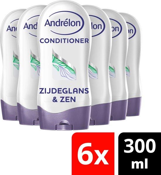 Andrélon Natuurlijk Puur Zijdeglans & Zen Conditioner - 6 x 300 ml - Voordeelverpakking