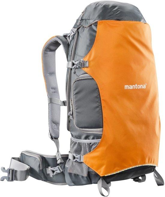 Mantona ElementsPro 40 Rugzak Grijs, Oranje