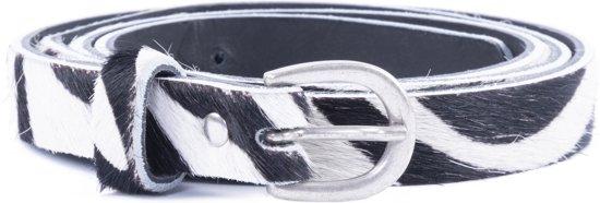 DSTRCT Lederen Dames Riem - 2 cm - Zebra - Maat 95