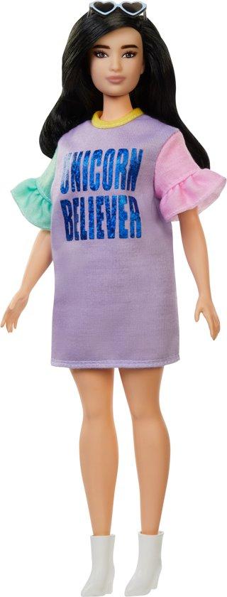 Barbie Fashionistas Curvy Met Lang Bruin Haar - Barbiepop