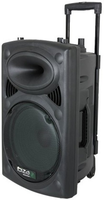 Ibiza Sound Mobiele geluidsinstallatie PORT8VHF-BT Max. 400W - Zwart