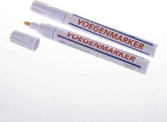 2X Voegenmarker - Voegen Stift Duopack - Voegenwit Marker - Wit