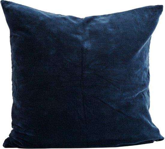 Kussenhoes 50 X 60.Bol Com Madam Stoltz Kussenhoes Blauw Velvet 60 X 60