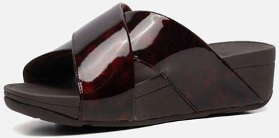 FitFlop Lulu Tortoiseshell slippers bruin