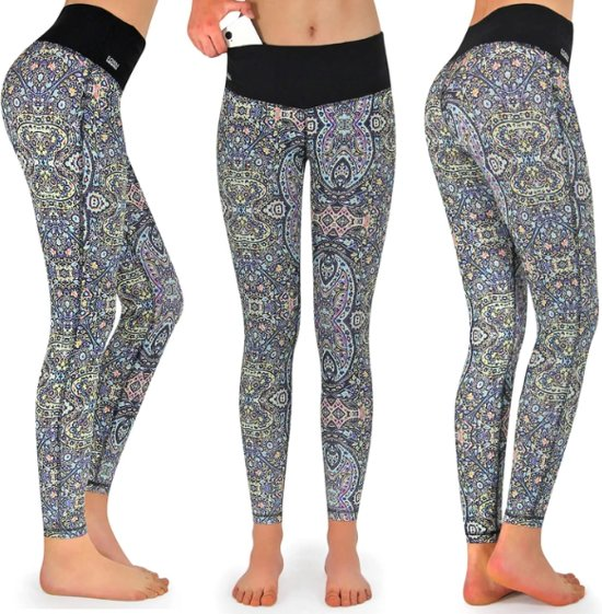 Formbelt Womens Running Tights Long/Workout Pants/Sports Leggings with Integrated Running Belt for Smartphone Keys | Fitness Yoga Cycling Outdoor Gym | High Waist Stretch Comfy Compression (Spirit One, XS)
