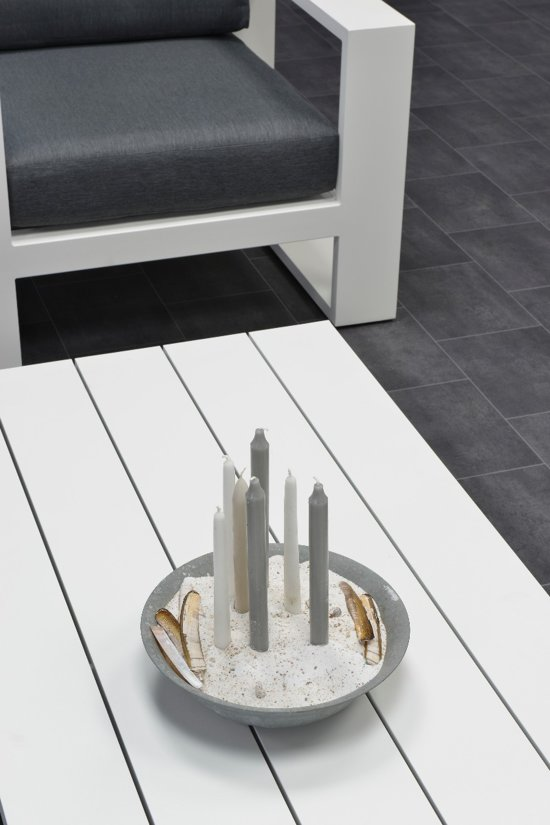 Garden Impressions Cube 3-zitsbank aluminium antraciet