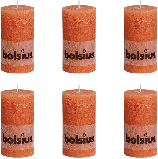 Bolsius Stompkaars 130/68 rustiek Oranje (per 6 stuks)