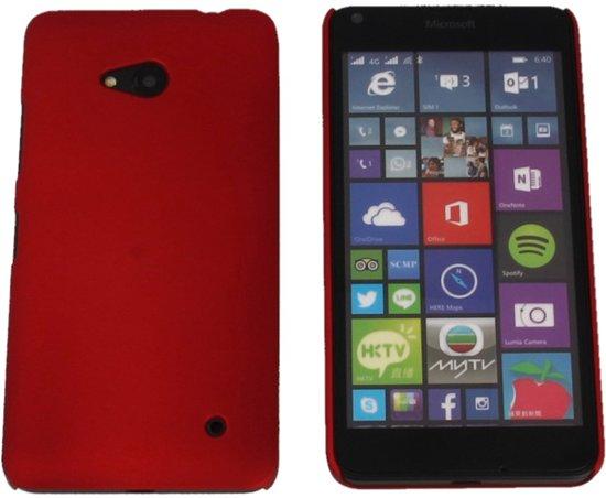 new concept 9709e 9de27 Microsoft Lumia 640 Hard Case Hoesje Bordeaux Rood Red