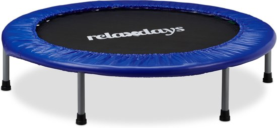 relaxdays - opvouwbaar trampoline met bungee elastiek voor kinderen tot 45 kg