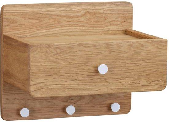 Sleutelkastje Met Spiegel : Bol.com nordiq metro shelf houten sleutelkastje eikenhout