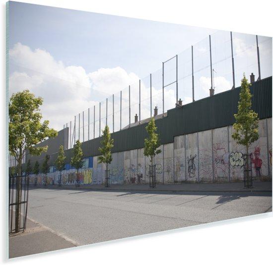 Belfast wall bekend als The Peace Lines Plexiglas 30x20 cm - klein - Foto print op Glas (Plexiglas wanddecoratie)