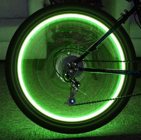 led fietswiel verlichting groen industrial batterij
