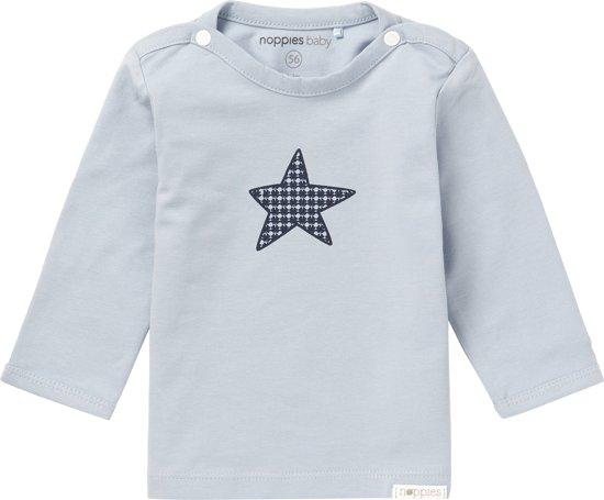 Noppies Giftset (3delig) Lichtblauw Vest, Shirt met ster en Blauw Broekje met sterretjes - Maat 56