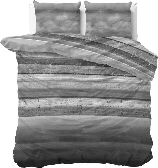 Sleeptime Marcus - Dekbedovertrekset - Lits-Jumeaux - 240x200/220 + 2 kussenslopen 60x70 - Antraciet